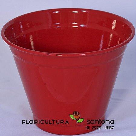 Cachepot Alumínio Vermelho Médio #8 - 17 x 14,5 x 10 cm