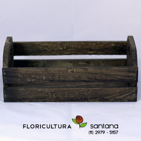 Caixa de Madeira preta 8,5x24x13,4cm
