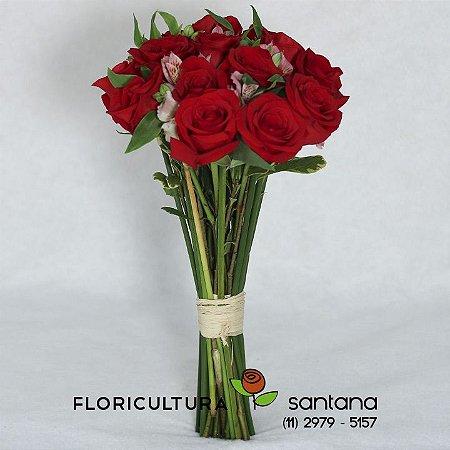 Buquê Carinho - Rosas Vermelhas