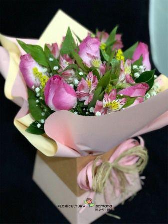 Buquê na Caixa com 6 Rosas