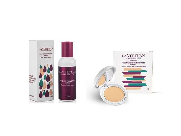 Sabonete Liquido Equilibrante facial + Protetor solar em Pó