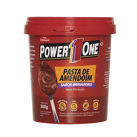 Pasta de Amendoim Brigadeiro 500  Gr Power One