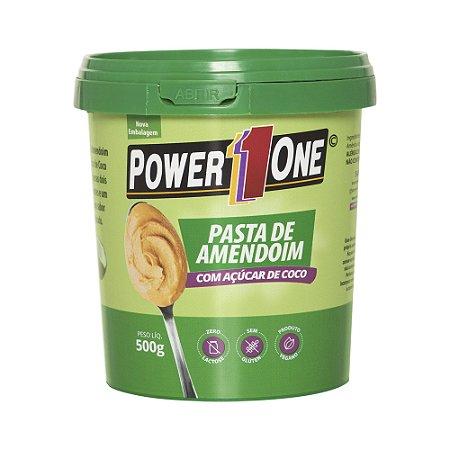 Pasta de Amendoim com Açucar de Coco 500  Gr Power One