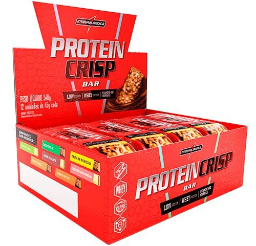 Protein Crisp Bar Integralmedica Caixa 12 Unidades