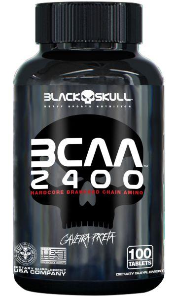 BCAA 2400 Black Skull Caveira Preta 100 Tabletes