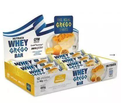 Whey Grego Bar Caixa 12 Unidades Nutrata