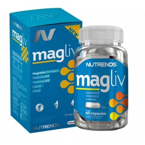 Magliv Magnesio Dimalato 60 Capsulas Nutrends