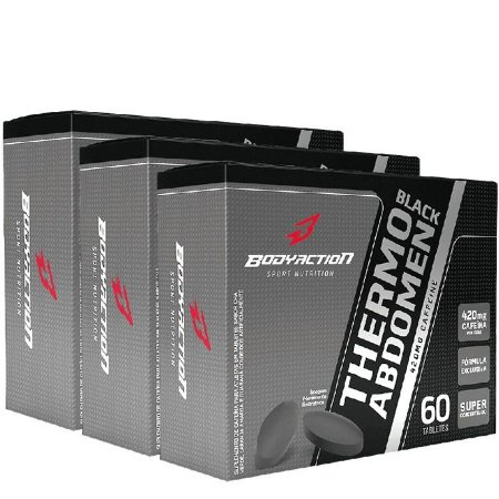 3x Thermo Abdômen Black 60 Caps Bodyaction