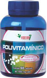 Polivitamínico Videira7 60 Capsulas 1000mg vitaminas A Z - SUPERNUTRIBH 73587d224f6c9