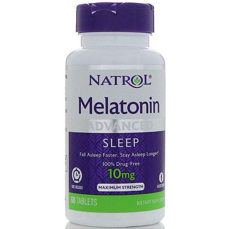 melatonina 10mg original importado 60 tabletes natrol - frete grátis