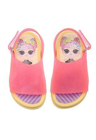 66f898153f Sandália Infantil e Bebê LOL Surprises Plugt - Rosa Amarelo ...