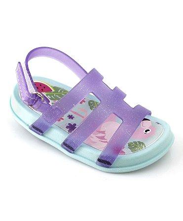 ba22d551c7 Sandália Infantil e Bebê Flamingo Menina Plugt - Lilás Verde Água ...