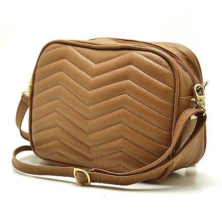 e55a4a674 Bolsa Hendy Bag Couro Caramelo Transversal Quadrada