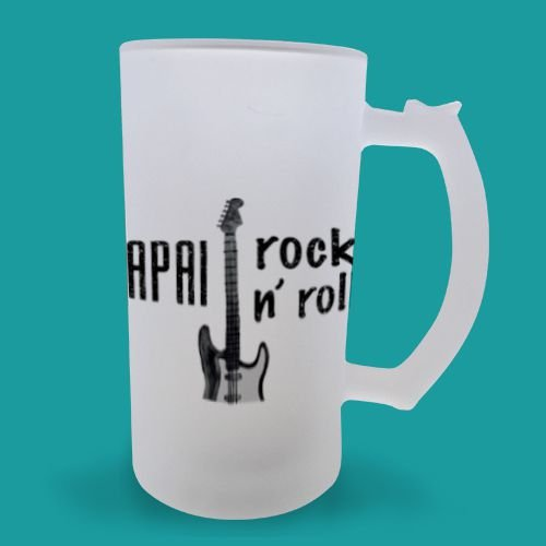 Caneca Chopp Papai Rock n' Roll