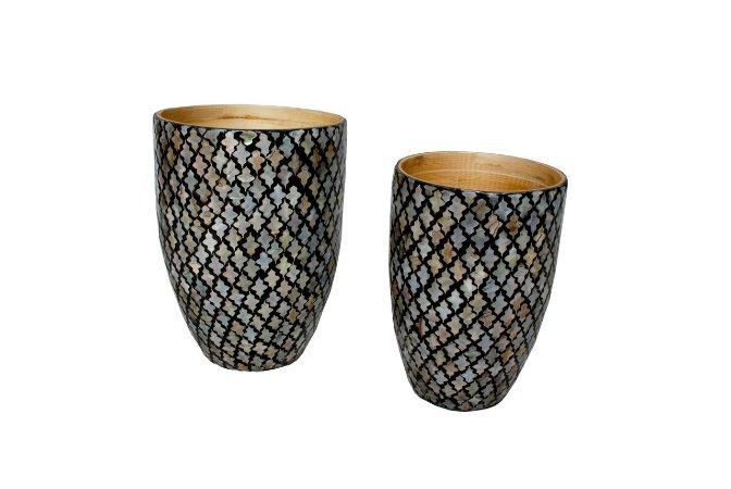 Vaso Bamboo Laqueado Marine