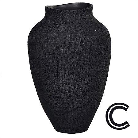 Vaso Cerâmica Preto Grande