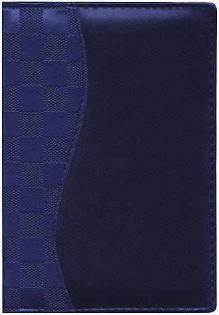 Agenda Diária Capa Lisa com Recorte Xadrez Azul AG2207