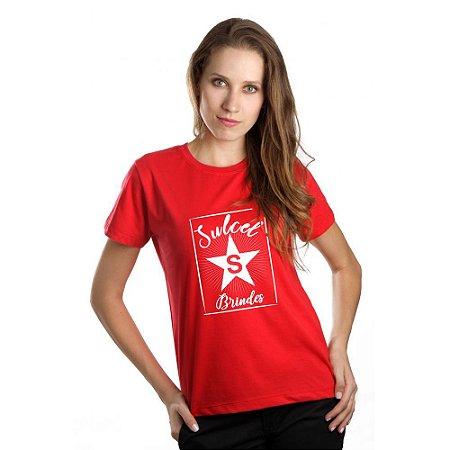 Camiseta Baby Look Feminina Vermelha CB4739