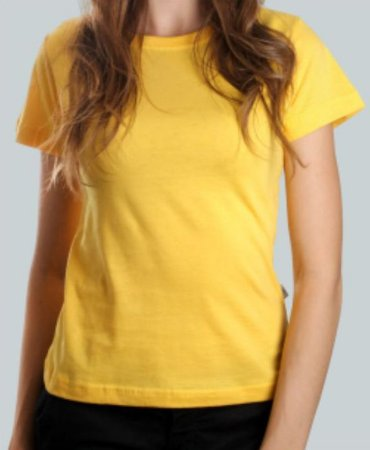 Camiseta Baby Look Amarela CB4730