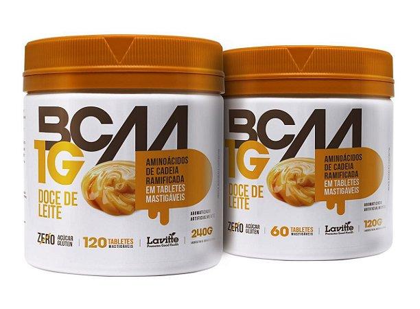 BCAA 1G - sabor Doce de Leite com 120 tabletes