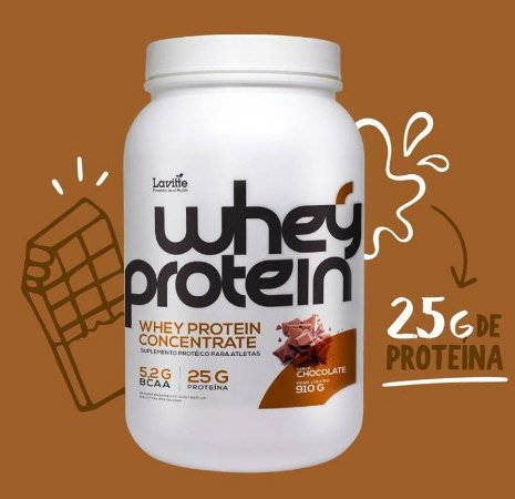 Whey Protein Concentrado - sabor chocolate -920g