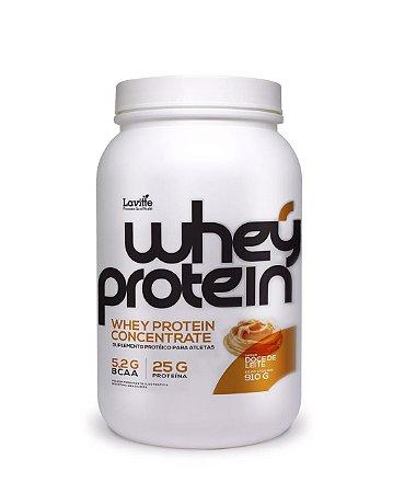 Whey Protein Concentrado - sabor doce de leite -920g