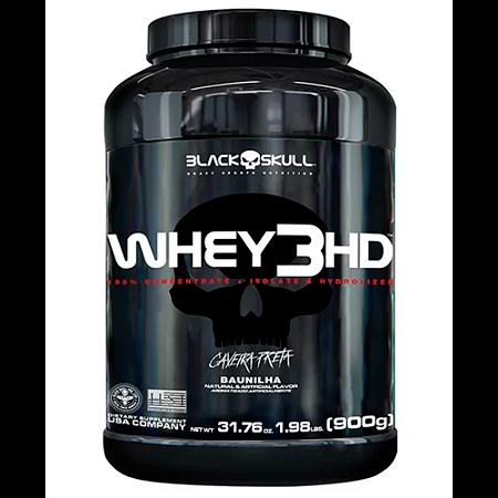 Whey Protein 3 HD Black Skull - 900g - Unissex - Baunilha