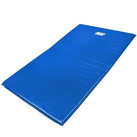 Colchonete para academia, ginástica e yoga em napa 100x50x3 Orthovida - Azul