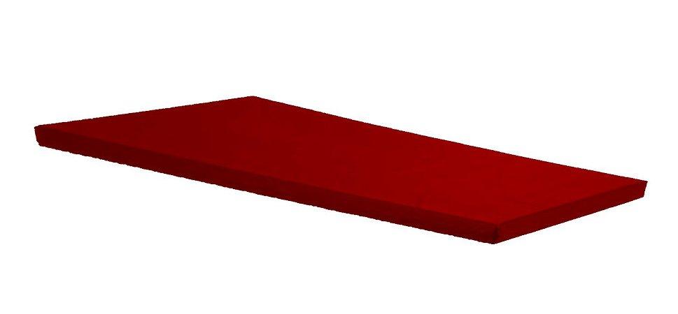 Colchonete Academia, Ginástica, Exercícios Abdominais 130 X 60 X 7 Orthovida Vermelho