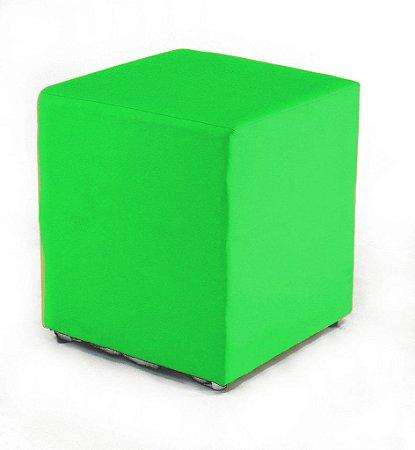 Puff Decorativo Quadrado Corino Verde 45x34x34cm Orthovida