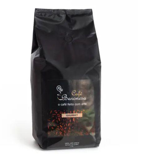 Café Baronesa Gourmet Torrado em Grãos 1kg