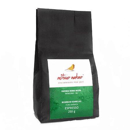 Café Especial Mitsuo Nakao Espresso Bourbon Vermelho Torrado em Grãos 250g