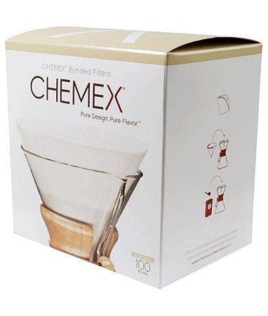 Filtro Chemex Circular Pré Dobrado 100 unidades