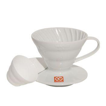 Coador Hario v60 Cerâmica Branco 1-2 Xícaras