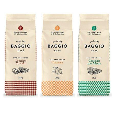 Kit 3 Cafés Baggio Seleção Aromas Torrados e Moídos 250g