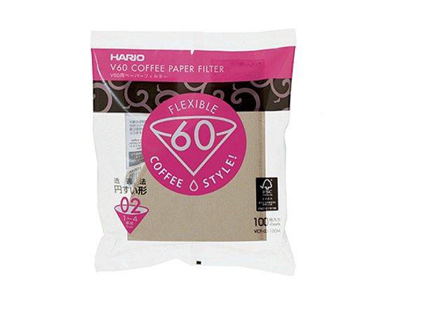 Filtro de Café Natural Hario V60 Tamanho 01 - 100 Un.