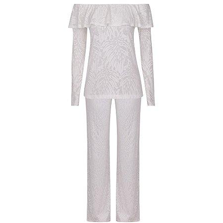 Conjunto Pijama Aimê Branco