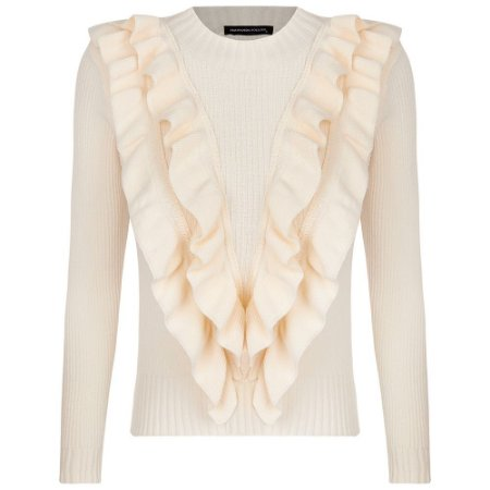 Tricot Luiza Off White Babados
