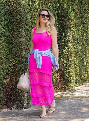 Vestido Tricot Lily Pink