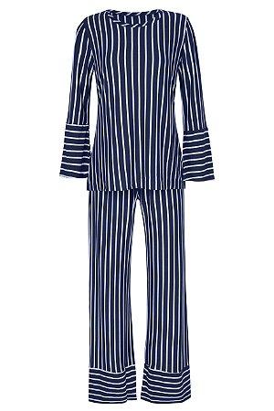 Pijama Listrado Azul