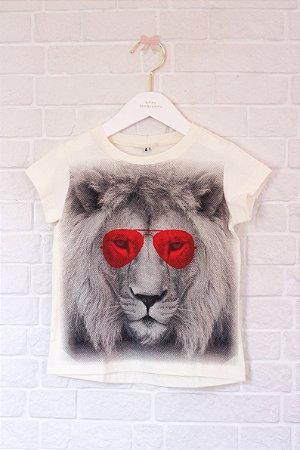 T-shirt Leão manga curta