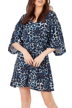 Vestido Beth Azul Onça