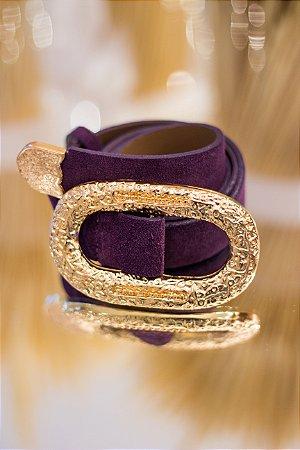 Cinto Chamois Gold Roxo