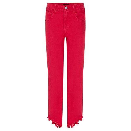 Jeans Color Vermelho