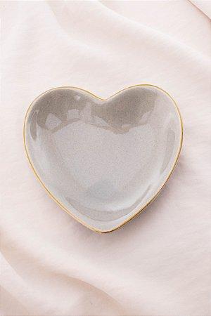 Porta Jóia Coração Cinza
