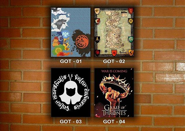 Placa Decorativa Vintage Retro Game Of Thrones