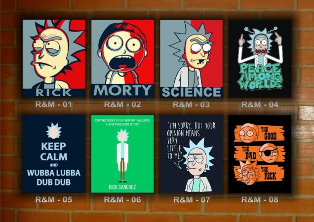 Placa Decorativa Vintage Retro Rick And Morty