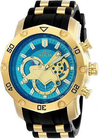 Relógio Invicta Pro Diver 23426 Banhado Ouro 18k Cronografo 50mm