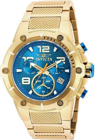 Relógio Invicta Speedway 19532 Banhado Ouro 18k Cronografo 51mm