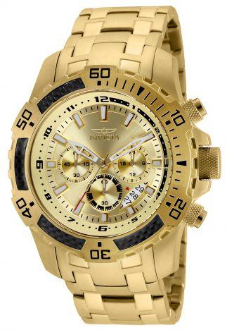 Relógio Invicta Pro Diver 24860 Banhado Ouro 18k Cronografo 51mm